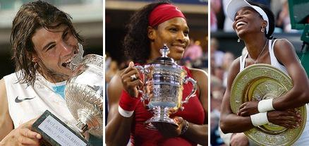 Rafael Nadal, Serena Williams, Venus Williams, French Open, Roland Garros 2009, Lawn Tennis Magazine