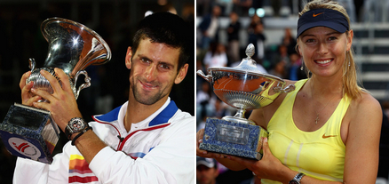 Novak Djokovic, Maria Sharapova Win At The Italian Open